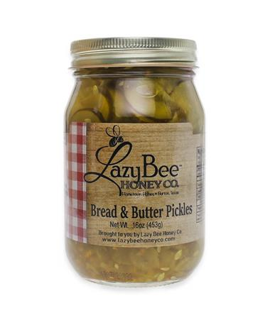 Lazy Bee Honey Bread & Butter Pickles - Front Multi