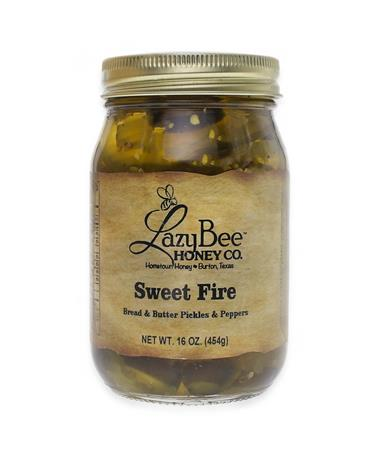 Lazy Bee Honey Sweet Fire Pickles & Peppers - Front Multi