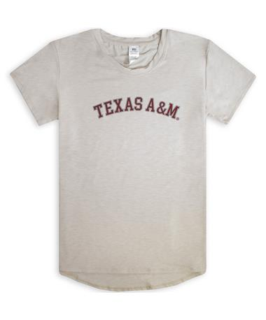 Texas A&M Ivy Citizens Women`s Tee - Front IVORY
