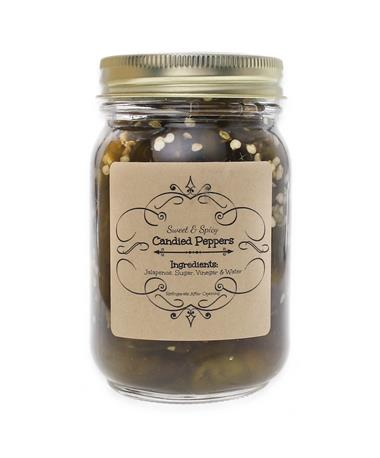 Sweet & Spicy Candied Jalapeño Peppers