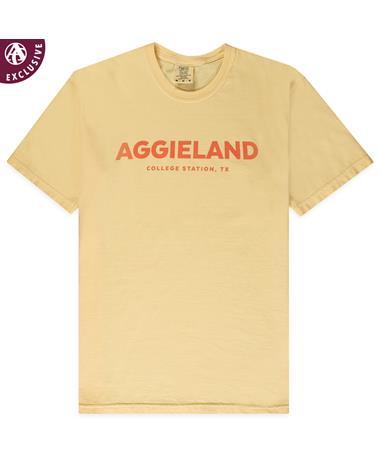 Texas A&M Aggieland College Station T-Shirt - Butter - Front C1717 BUTTER