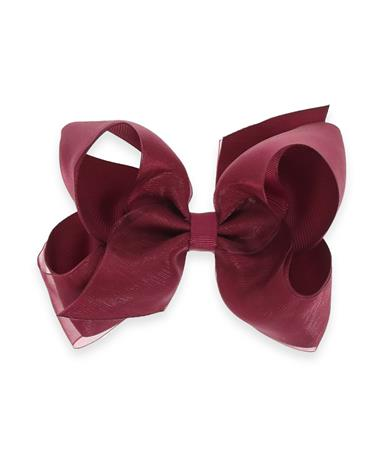 Maroon Medium Overlay Basic Bow Wine