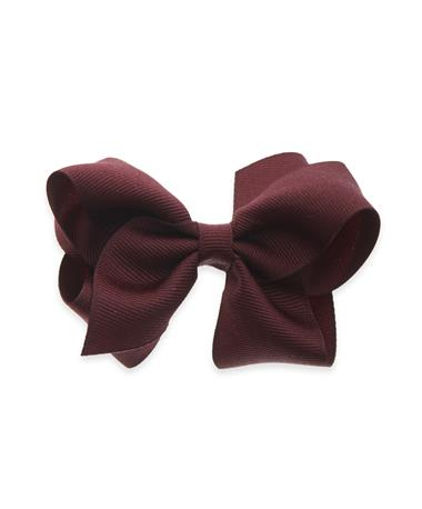 Maroon Small Solid Basic Bow Burgundy