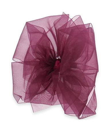 Maroon King Organza Double Basic Bow Wine