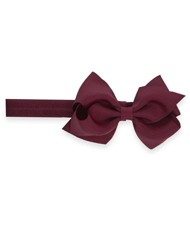 Removable Extra Small Bow with Matching Band Wine