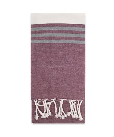 Falmouth Fringe Tea Towel Maroon