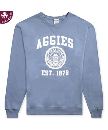 Texas A&M Classic Seal Sweatshirt 1566 ICE BLUE