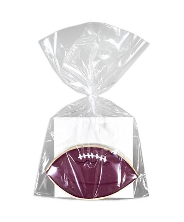 Maroon Football Designer Cookie