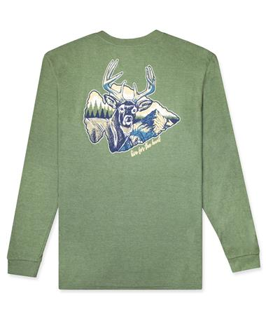 BURLEBO Live For The Hunt Pocket Long Sleeve GREEN
