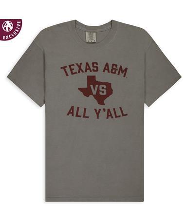 Texas A&M Vs All Y`all Tee C1717 Grey
