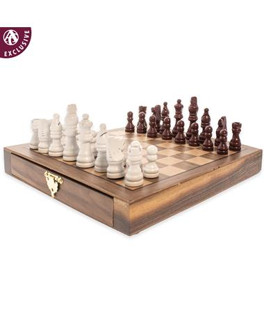 Maroon Rivalry Magnetic Chess Set Maroon/ Gold