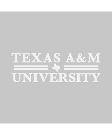 Texas A&M Double Bar Frosted Glass Decal