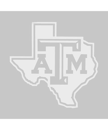 Texas A&M Lone Star Frosted Glass Decal