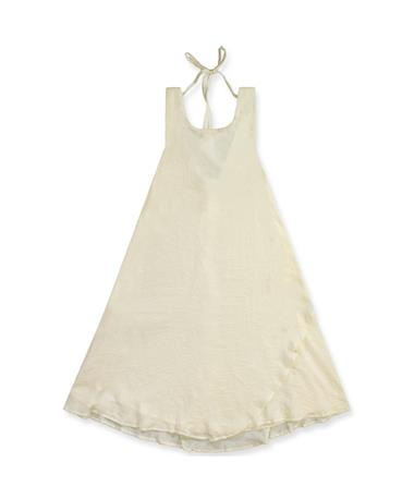 Keyhole BackTank Cream Dress