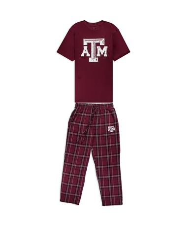 Texas A&M Men's Shirt & Pants Pajama Set