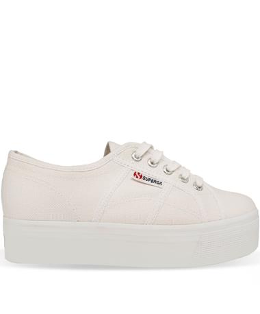 Superga White Platform Sneakers