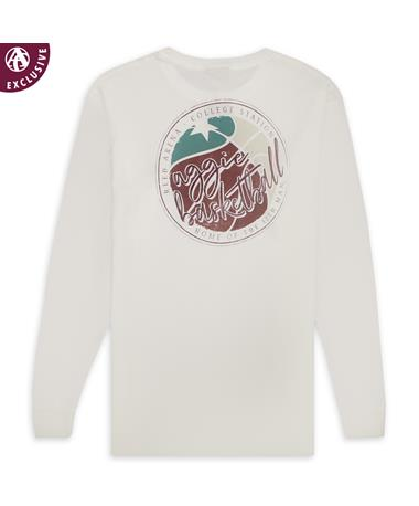 Texas A&M Aggie Basketball Circle Long Sleeve T-Shirt