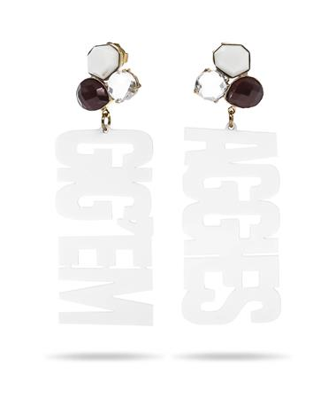 Texas A&M Gig 'Em Aggies 3 Gemstone Earrings