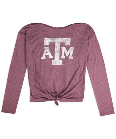 Texas A&M Colosseum Merma-Lair Long Sleeve Girls Tee