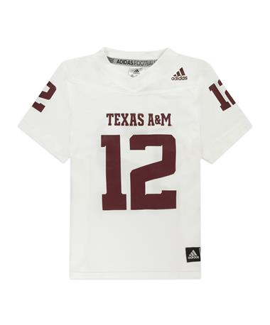 Texas A&M Adidas White Replica 2020 Youth Jersey