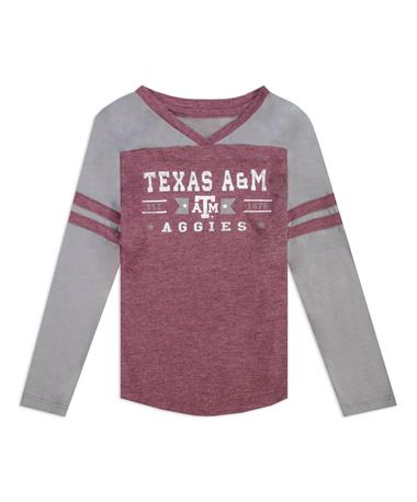 Texas A&M Colosseum Star Long Sleeve Girls Toddler Tee