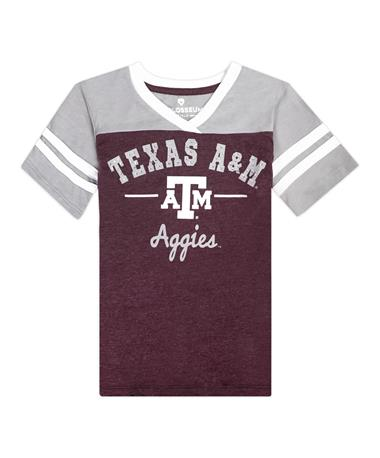 Texas A&M Colosseum Pearl Rhinestone Youth Tee