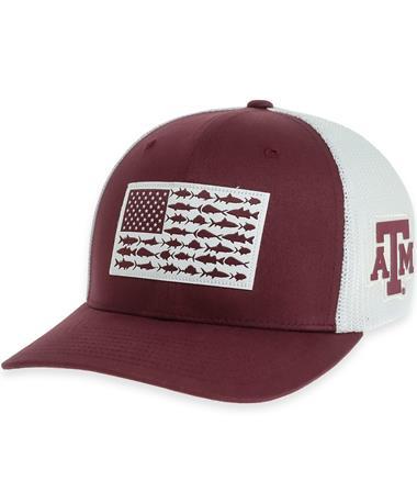 Texas A&M Columbia Mesh Fish Flag Cap