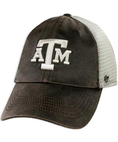 Texas A&M '47 Brand Brown Oil Cloth Clean Up Hat