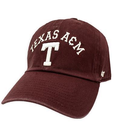 Texas A&M '47 Brand Classic Arch Block T Clean Up Cap
