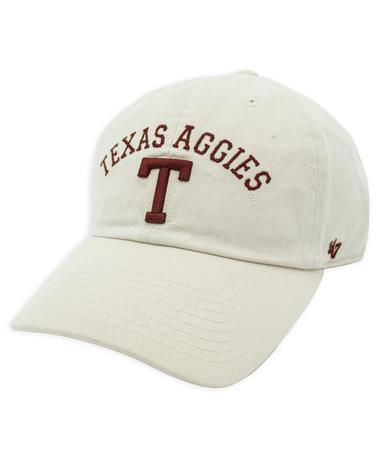 Texas A&M '47 Brand Natural Classic Arch Block T Clean Up Cap