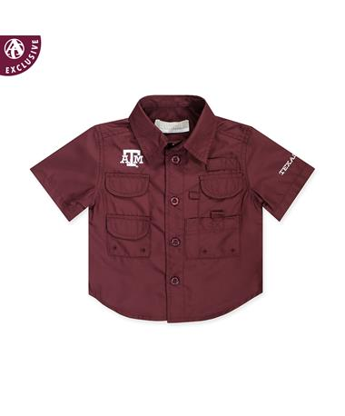 Texas A&M Infant Maroon Fishing Shirt