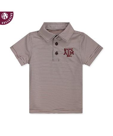 Texas A&M Infant Micro Stripe Polo - Front MAROON/WHITE