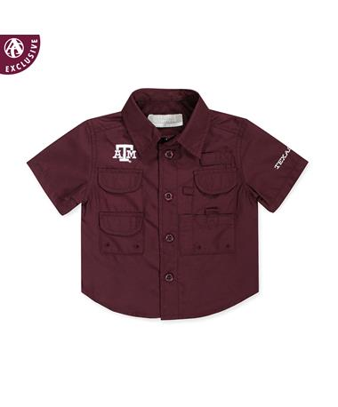 Texas A&M Toddler Maroon Fishing Shirt
