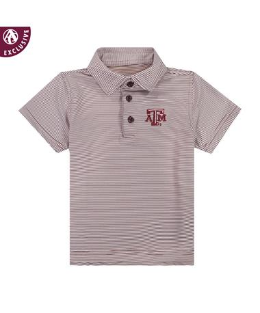 Texas A&M Toddler Micro Stripe Polo
