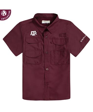 Texas A&M Maroon Athletic Fishing Shirt MAROON