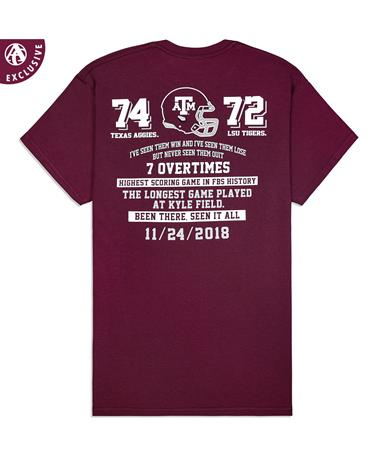 Texas A&M LSU Victory T-Shirt - Back Maroon