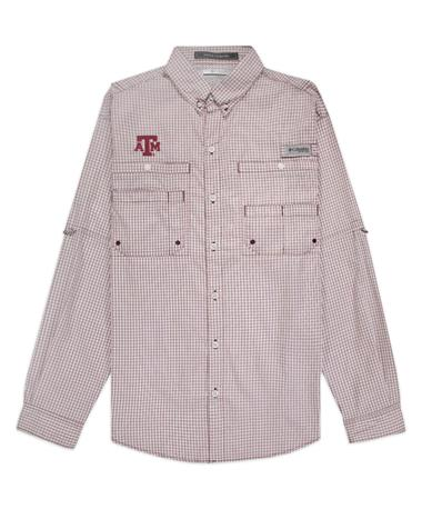 Texas A&M Columbia Super Tamiami Long Sleeve Shirt