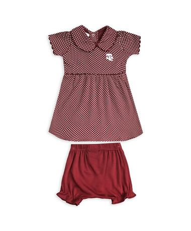 Texas A&M Infant Peter Pan Dress