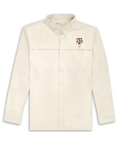 Texas A&M Xotic White Button Down Long Sleeve