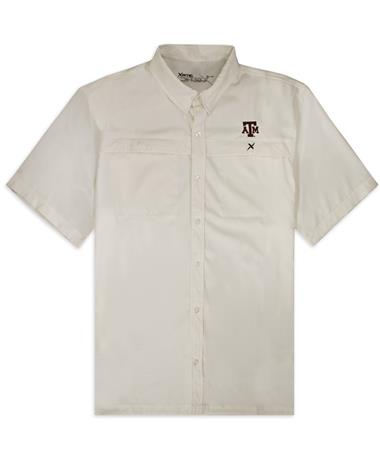 Texas A&M Xotic White Button Down
