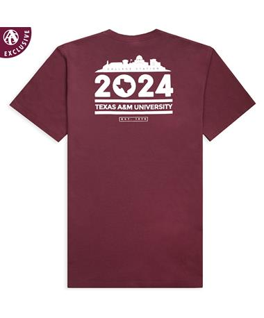 Texas A&M Skyline 2024 T-Shirt