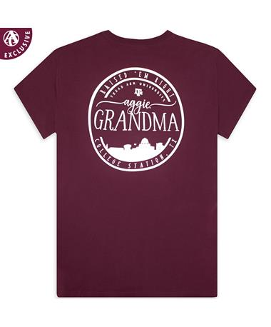 Texas A&M Aggie Grandma Circle Skyline T-Shirt