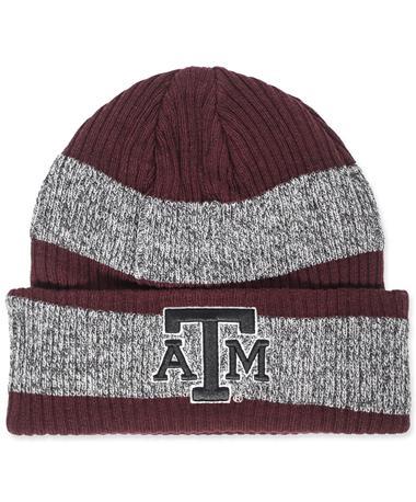 Texas A&M Adidas Stripe Beanie Maroon/ Grey
