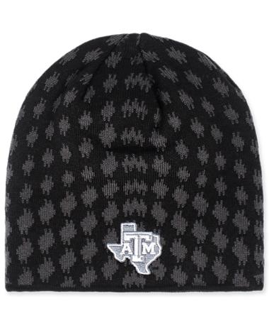 Texas A&M Adidas Grey Dot Beanie Black