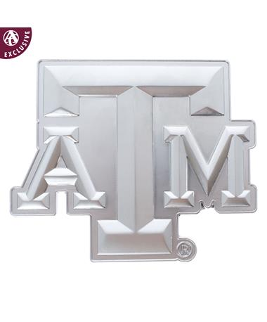 Texas A&M Matte Silver Block Emblem