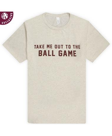 Take Me Out To The Ball Game Tee 3413 Oatmeal