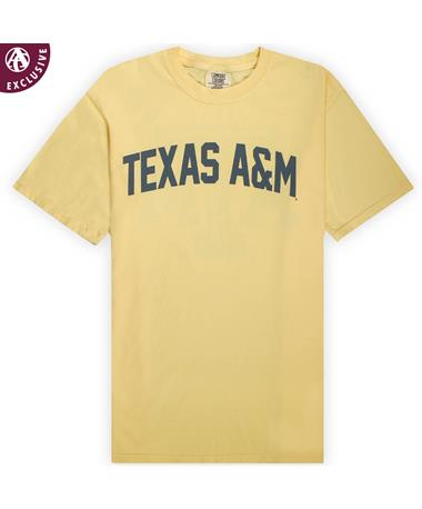 Texas A&M Butter Simple Arch T-Shirt - Front C1717 Butter