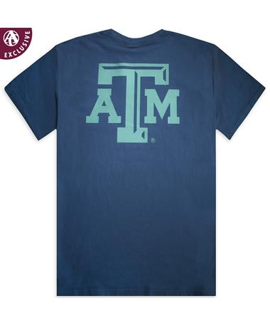 Texas A&M Navy Simple Arch Tee
