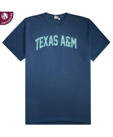 Texas A&M Navy Simple Arch T-Shirt