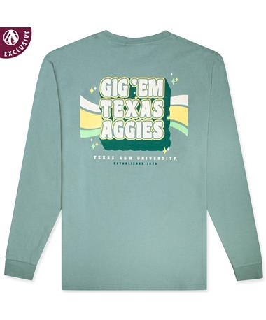 Texas A&M Aggies Gig 'Em Retro Long Sleeve T-Shirt
